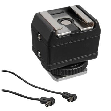Hama Universal Dual Hot Shoe Adapter, lighting cables & adapters, Hama - Pictureline