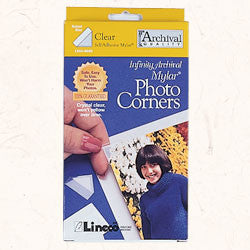 "Lineco Clear Photo Corners 1/2"""" 240 count, papers mounting supplies, Lineco - Pictureline  - 1"