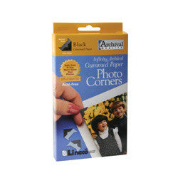 "Lineco Black Photo Corners 1/2"""" 240 count, papers mounting supplies, Lineco - Pictureline  - 1"