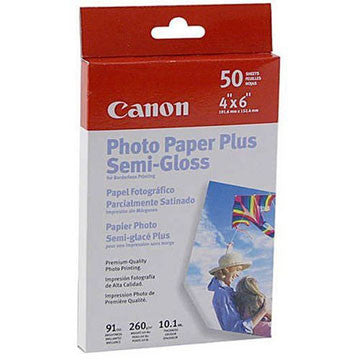 "Canon Photo Paper Plus Semi-Gloss 4x6"" (50 Sheets), papers sheet paper, Canon - Pictureline"