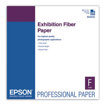 Epson Exhibition Fiber Paper 8.5x11 (25), papers sheet paper, Epson - Pictureline