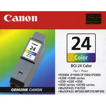 Canon BCI-24CL Color Ink Tank, printers ink small format, Canon - Pictureline
