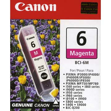 Canon Magenta Ink BCI-6M, printers ink small format, Canon - Pictureline