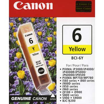 Canon Yellow Ink BCI-6Y, printers ink small format, Canon - Pictureline