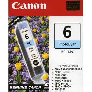 Canon Photo Cyan Ink BCI-6PC, printers ink small format, Canon - Pictureline