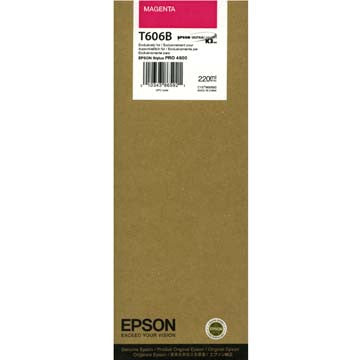 Epson T606B00 4800 Ultrachrome HDR Ink Magenta 220ml, papers ink large format, Epson - Pictureline