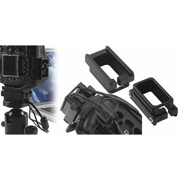 Kirk L-Bracket for Canon 5D w/ BG-E4 attached, tripods plates, Kirk Enterprises - Pictureline  - 1