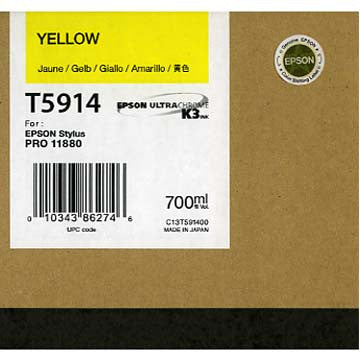Epson T591400 11880 Ink Yellow 700ml, papers ink large format, Epson - Pictureline  - 1