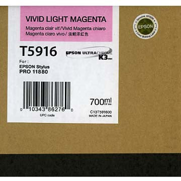 Epson T591600 11880 Ink Vivid Light Magenta 700ml, papers ink large format, Epson - Pictureline  - 1