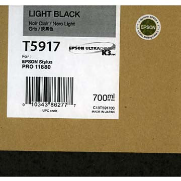 Epson T591700 11880 Ink Light Black 700ml, papers ink large format, Epson - Pictureline  - 1