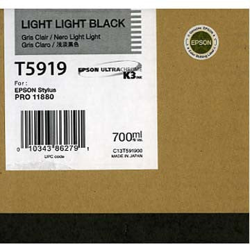 Epson T591900 11880 Ink Light Light Black 700ml, papers ink large format, Epson - Pictureline  - 1
