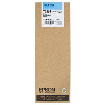 Epson T636500 7900/7890/9890/9900 Ultrachrome HDR Ink 700ml Light Cyan, papers ink large format, Epson - Pictureline  - 1