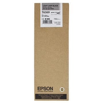 Epson T636900 7900/7890/9890/9900 Ultrachrome HDR Ink 700ml Light Light Black, papers ink large format, Epson - Pictureline  - 1