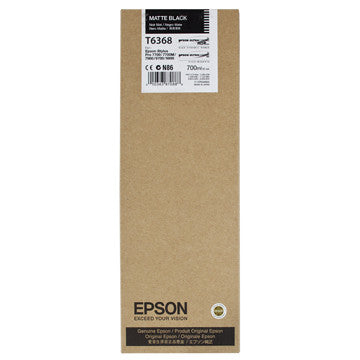 Epson T636800 7900/7890/9890/9900 Ultrachrome HDR Ink 700ml Matte Black, papers ink large format, Epson - Pictureline  - 1