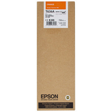 Epson T636A00 7900/9900 Ultrachrome HDR Ink 700ml Orange, papers ink large format, Epson - Pictureline  - 1