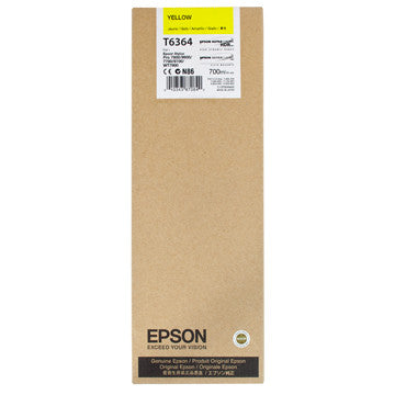 Epson T636400 7900/7890/9890/9900 Ultrachrome HDR Ink 700ml Yellow, papers ink large format, Epson - Pictureline  - 1