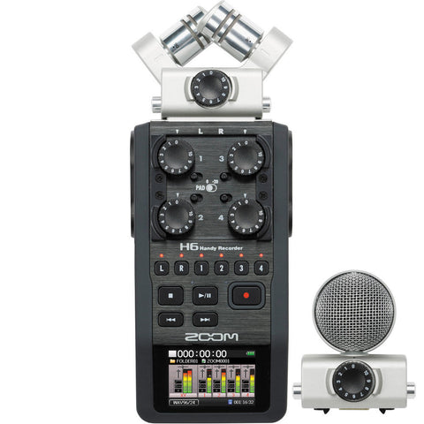 Zoom H6 Handy Recorder, video audio microphones & recorders, Zoom - Pictureline  - 1