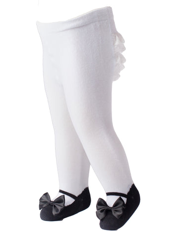 ruffle butt tights trumpette mary jane bow shoe socks bloomers