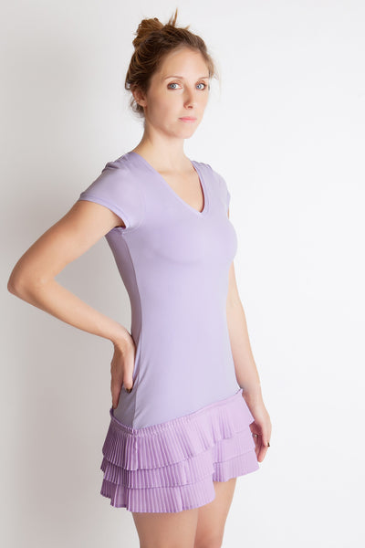 mille feuille lavender pleated party dress juicy couture