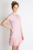 mille feuille pink pleated party dress juicy couture free people