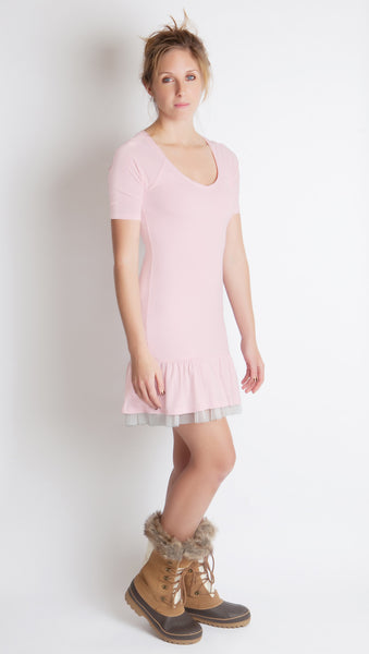 mille feuille couture blush pink ruffle tulle party dress free people little black dress