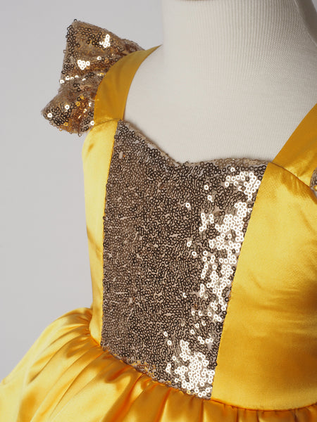 Girls Princess Belle Dress - Beauty and the Beast Sequin Costume