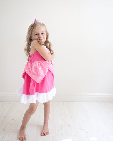 Princess Aurora Everyday Knit Girls Dress - Sleeping Beauty Inspired