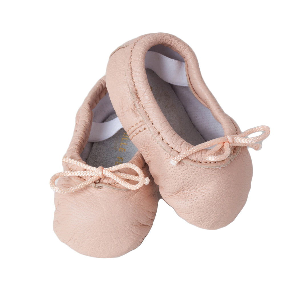 purchase cheap authentic quality buy cheap Newborn Baby Ballet Slippers - Classic Ballerina Pink leather shoes