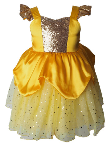 Belle Sparkle Princess Dress for Girls Beauty and the Beast