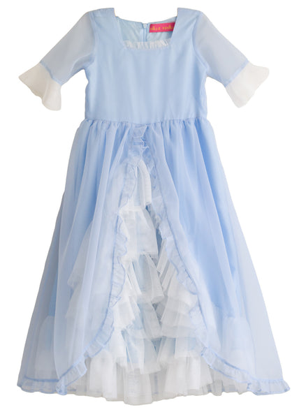 Madame Royale Vintage Style Flower Girl Dress - French Blue