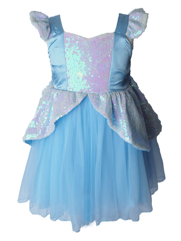 Girls Princess Cinderella Dress - Sequin Costume