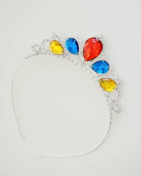 Princess Snow White Tiara - Inspired Girls Crystal Rhinestone Crown