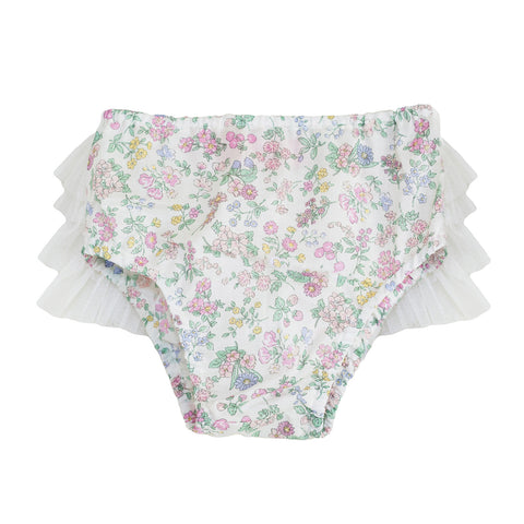 Vintage Floral Lawn Bloomers - Garden