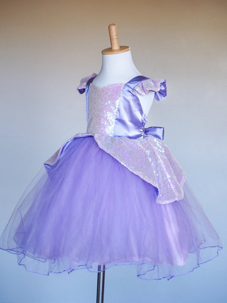 Girls Rapunzel Dress - Sequin Princess Costume