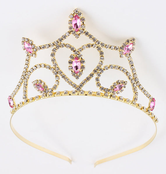 Princess Aurora Tiara - Sleeping Beauty Inspired Princess Crown Fuchsia and Pink Crystal Rhinestone