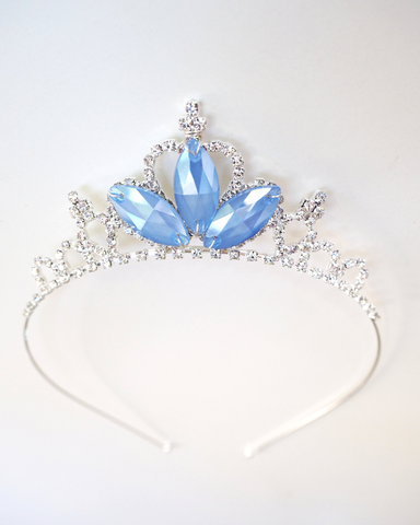 Princess Cinderella Tiara - Inspired Princess Crown Blue Crystal Rhinestone