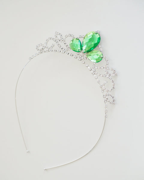 Princess Tiana - Princess and the Frog Inspired Princess Crown Green Peridot Crystal Rhinestone