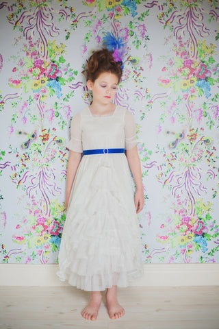 Madame Royale Vintage Style Flower Girl Dress - Ivory