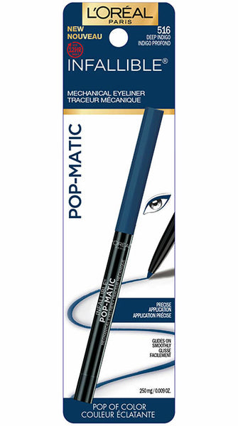 LOREAL Infallible Pop-Matic Mechanical Eyeliner, 516 Deep Indigo