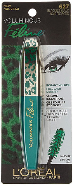 LOREAL Voluminous Feline Mascara, 627 Blackest Black