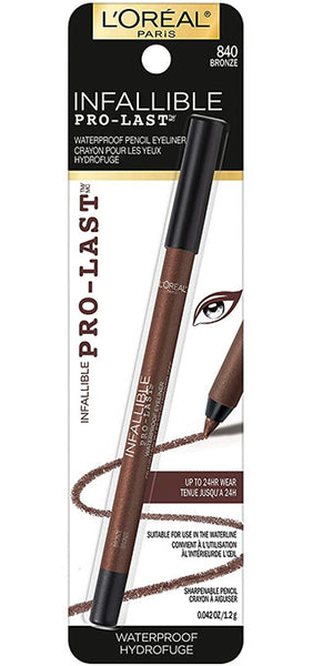LOREAL Infallible Pro-Last Pencil Eyeliner, 840 Bronze