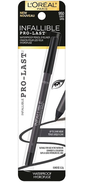LOREAL Infallible Pro-Last Pencil Eyeliner, 950 Grey