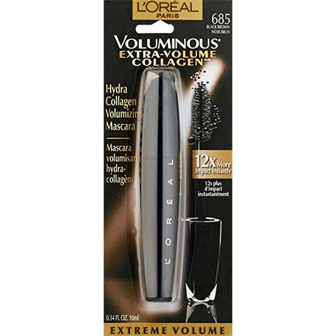 LOREAL Voluminous Extra Volume Collagen Mascara, 685 Black Brown
