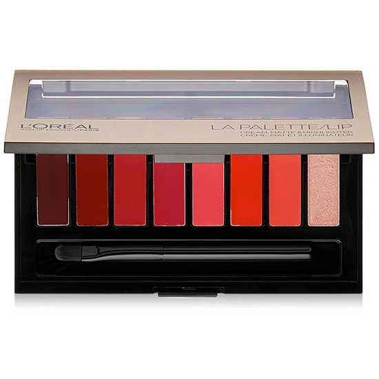 LOREAL La Palette Lipstick Color Kit, 04 Red