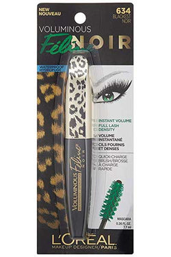 LOREAL Voluminous Feline Noir WATERPROOF Mascara, 634 Blackest Noir