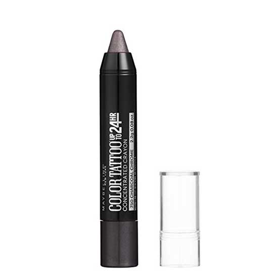 MAYBELLINE Color Tattoo 24 HR Eye Crayon, 750 Charcoal Chrome