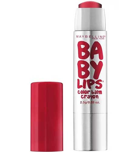 MAYBELLINE Baby Lips Color Balm Crayon, 30 Sassy Scarlet