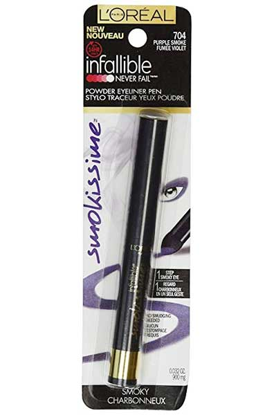LOREAL Infallible Smokissime Powder Eyeliner Pen, 704 Purple Smoke