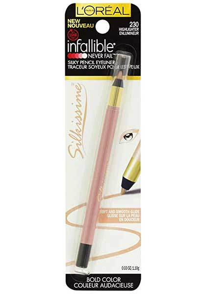 LOREAL Infallible Never Fail Silkissime Eyeliner, 230 Highlighter