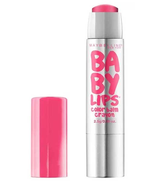 MAYBELLINE Baby Lips Color Balm Crayon, 15 Strawberry Pop